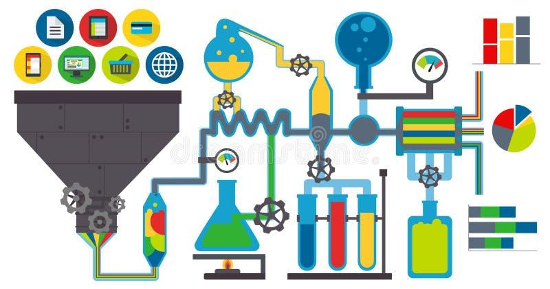 Laboratoire de données illustration de vecteur