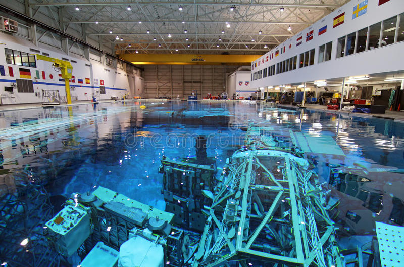 Laboratoire de flottabilité neutre - Johnson Space Center image stock