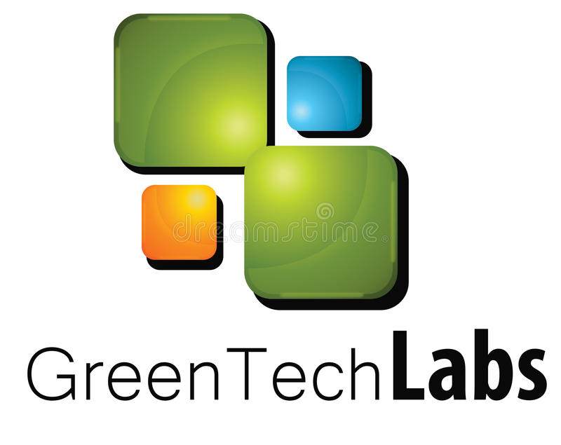 Laboratoire de logo illustration stock