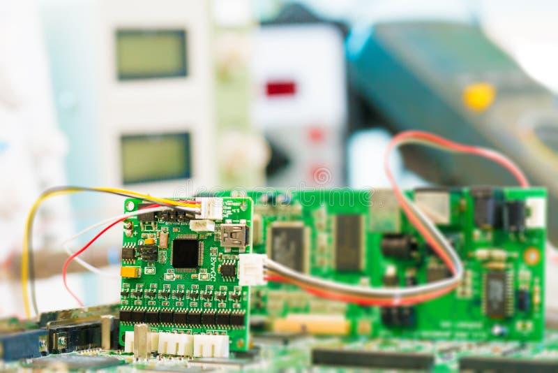 Laboratorio de la microelectrónica de la investigación imagen de archivo libre de regalías