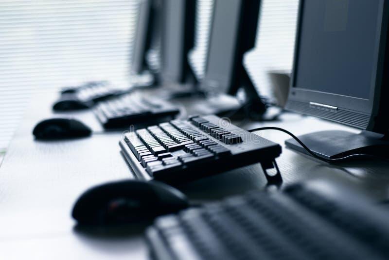 Laboratorio del ordenador imagen de archivo