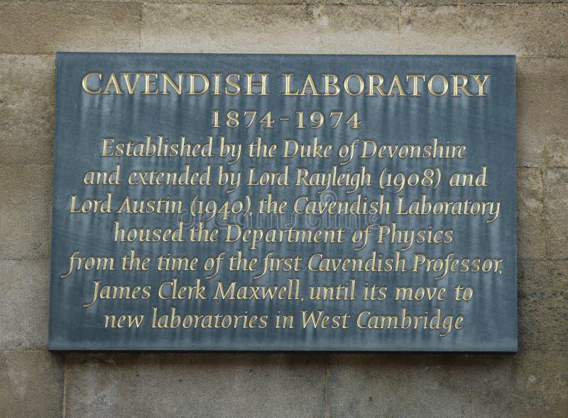 Laboratorio di Cavendish fotografie stock