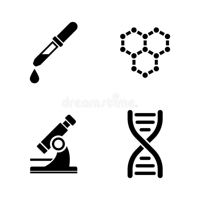 Laboratorio Iconos relacionados simples del vector stock de ilustración