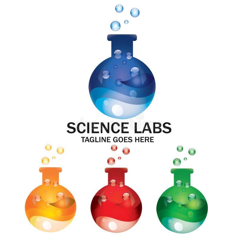 Laboratorio Logo Medical Health Chemical Industry del cubilete de la ciencia libre illustration