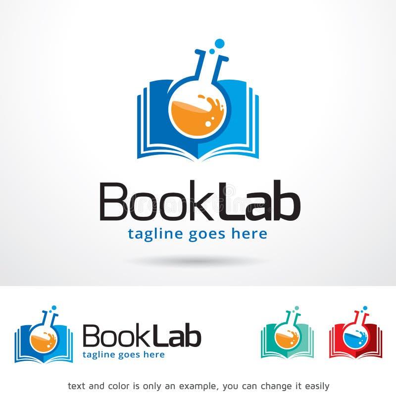 Laboratorio Logo Template Design Vector del libro illustrazione di stock
