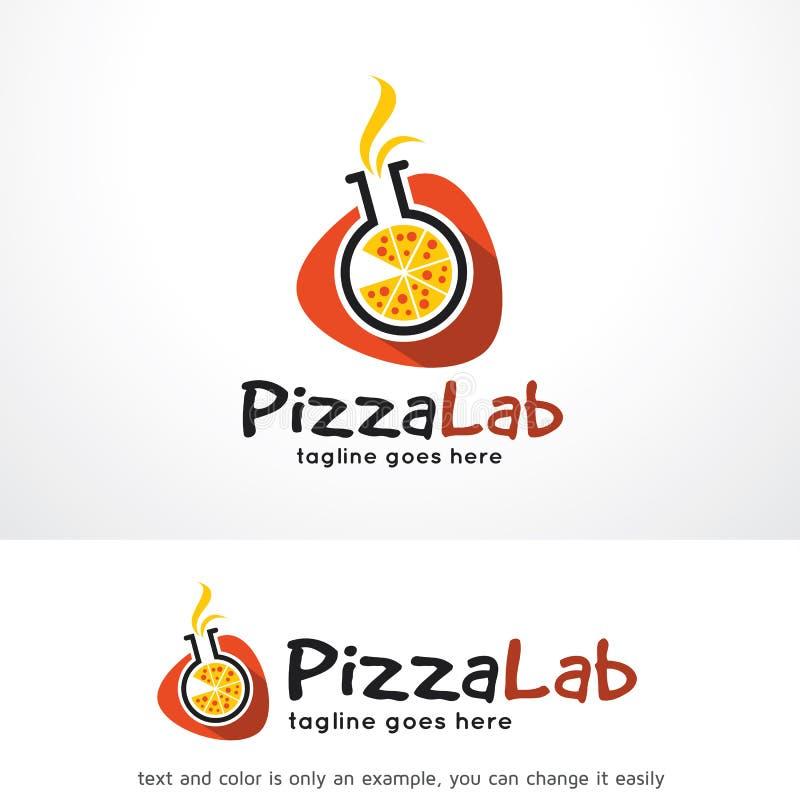 Laboratorio Logo Template Design Vector della pizza royalty illustrazione gratis