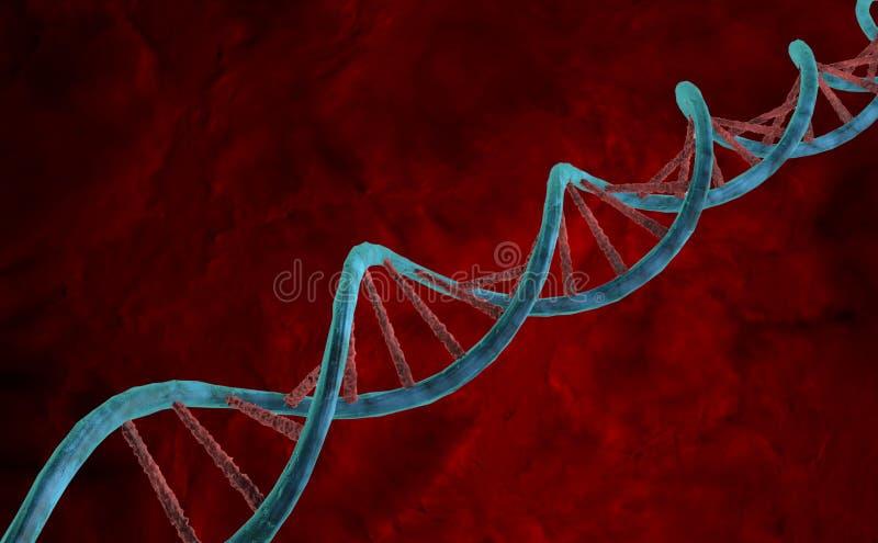 Laboratorio medico delle illustrazioni delle cellule del DNA illustrazione vettoriale