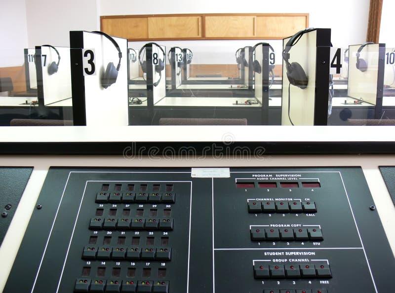 Laboratorio que escucha imágenes de archivo libres de regalías