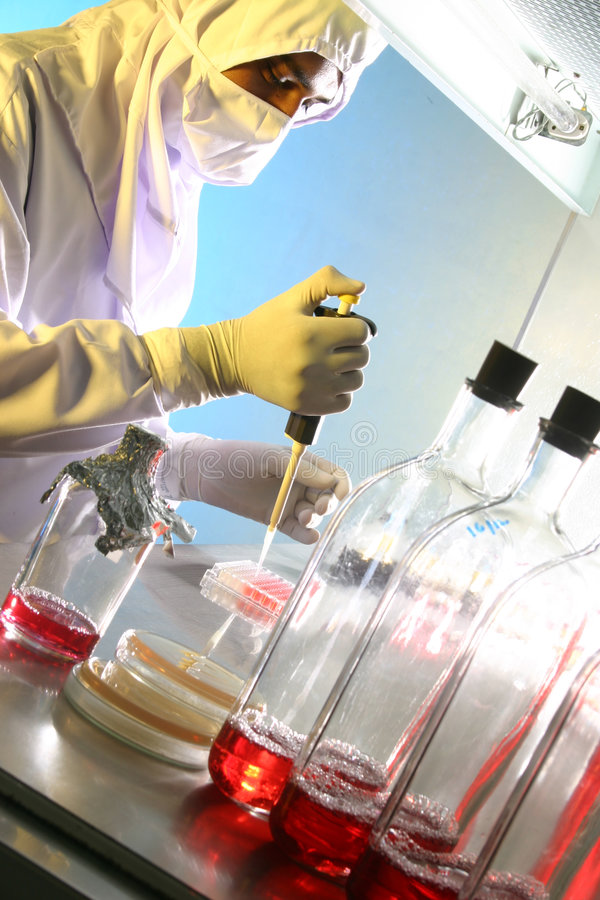 laboratorium bio - technologii zdjęcia royalty free
