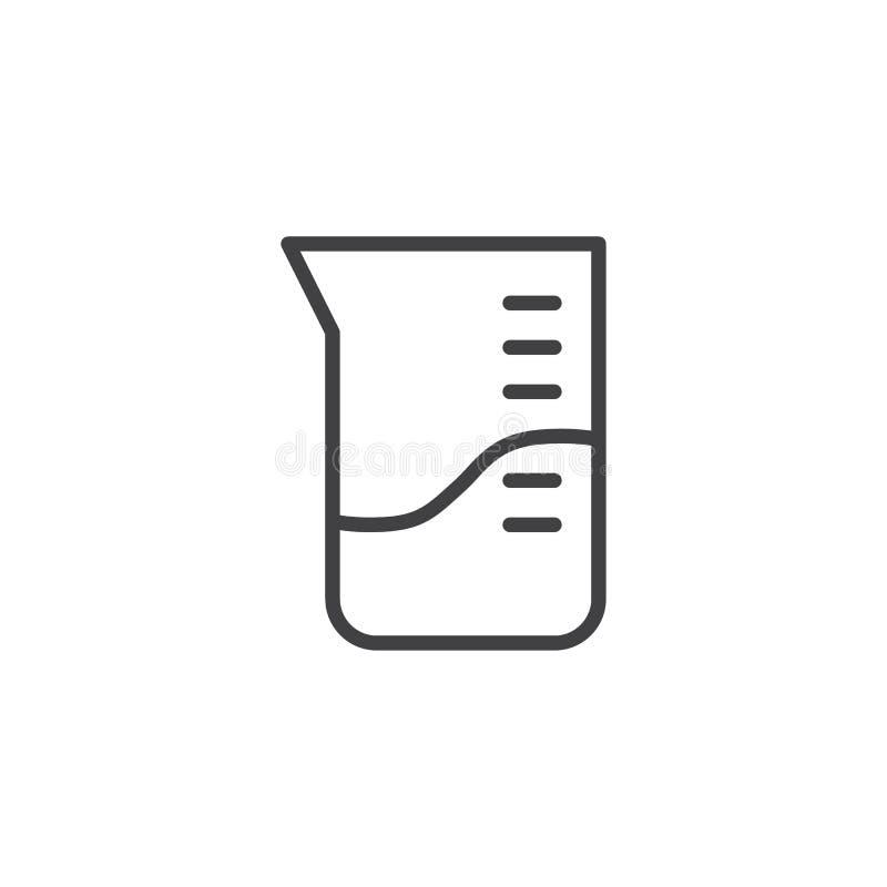 Laboratorium die het pictogram van de koplijn meten royalty-vrije illustratie