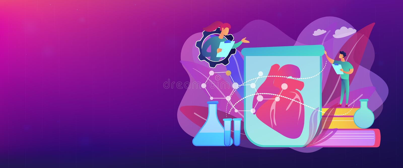 Laboratorium-gekweekte de bannerkopbal van het organenconcept stock illustratie