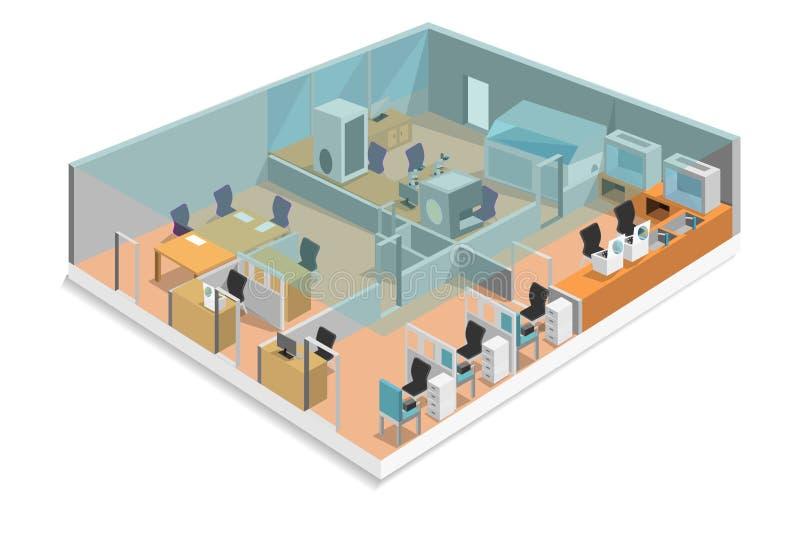 Laboratorium isometrisch ontwerp royalty-vrije illustratie