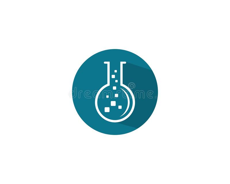 Laboratorium Logo Template royaltyfri illustrationer