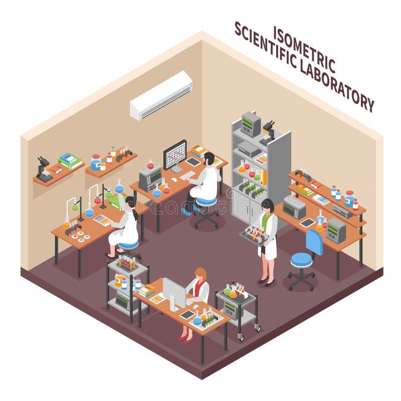 Laboratorium Naukowego środowiska skład ilustracji