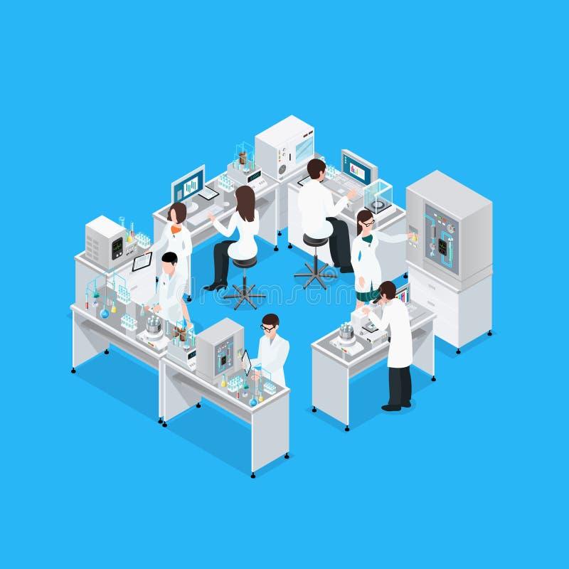 Laboratorium Naukowego miejsca pracy skład ilustracji
