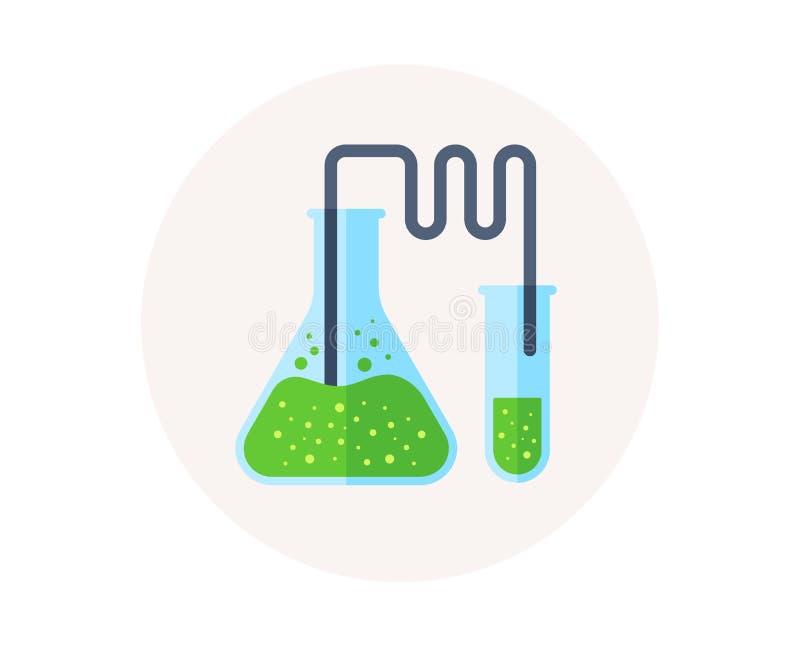 Laboratorium ruruje ikonę Chemii i nauki symbol Medyczny edukacja znak wyposażenie naukowy wektor ilustracja wektor