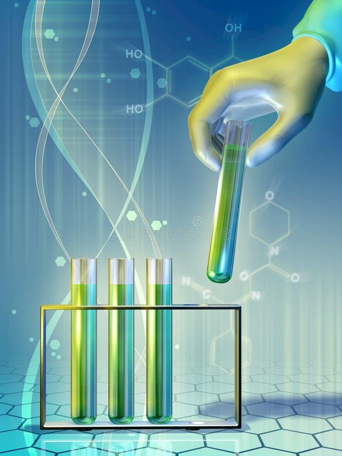 Download Laboratoriumexperiment stock illustratie. Illustratie bestaande uit wetenschap - 39105295