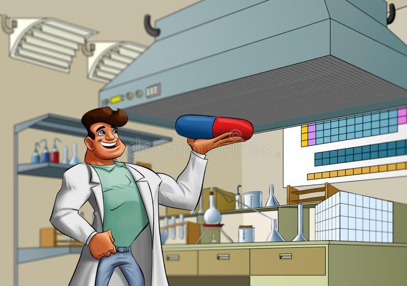 laboratoriumläkare royaltyfri illustrationer