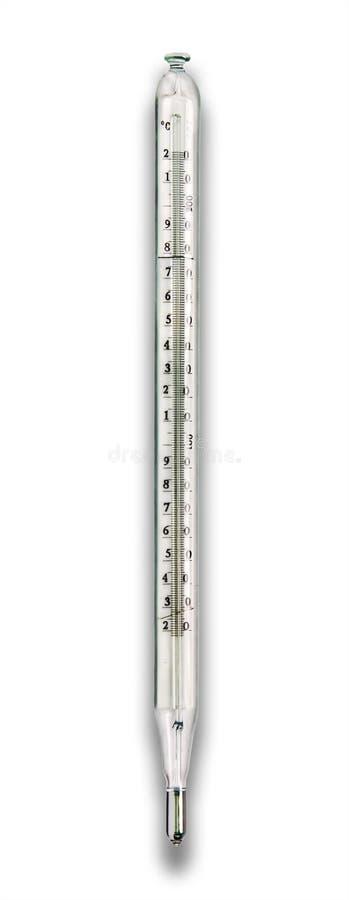 Laboratoriumtermometer arkivbilder