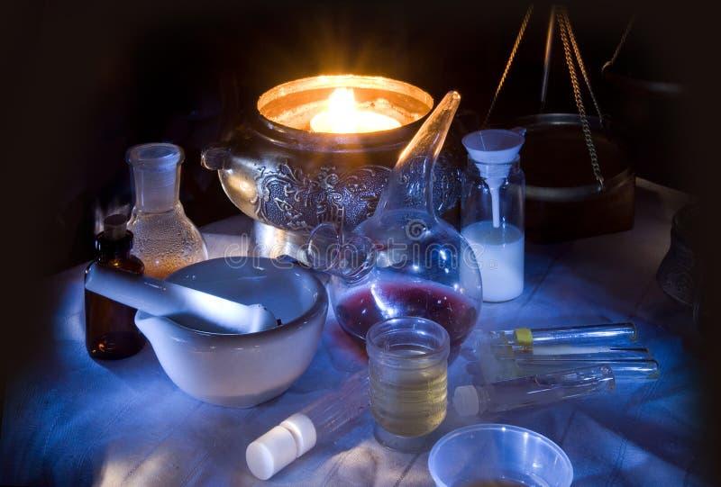 Laboratory alchemist stock photo