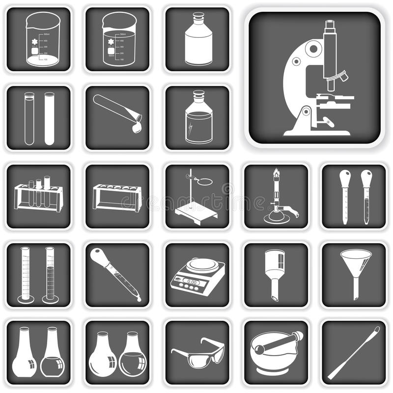 Download Laboratory buttons set stock vector. Image of fluid, clinical - 33443126