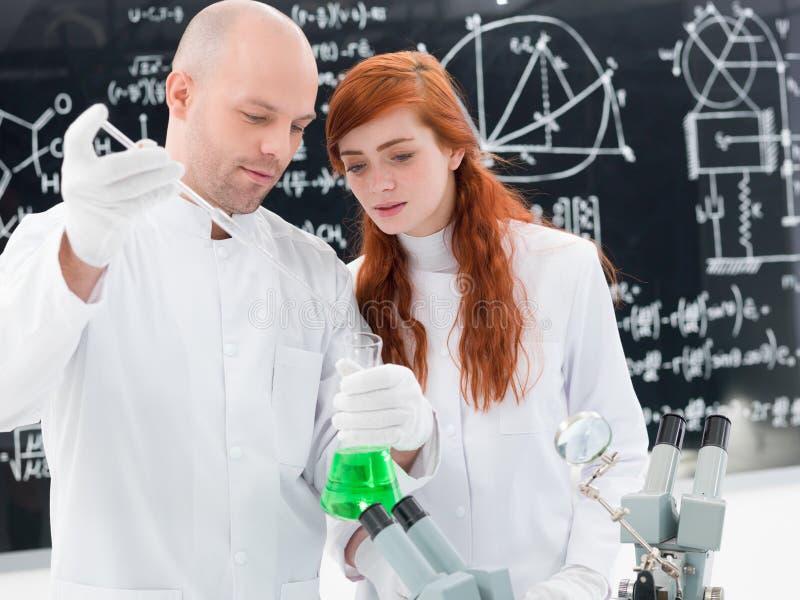 Laboratory chemical experiment stock photo