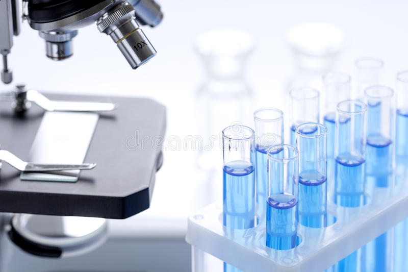 Laboratory, chemistry and science concept on white background stock photos