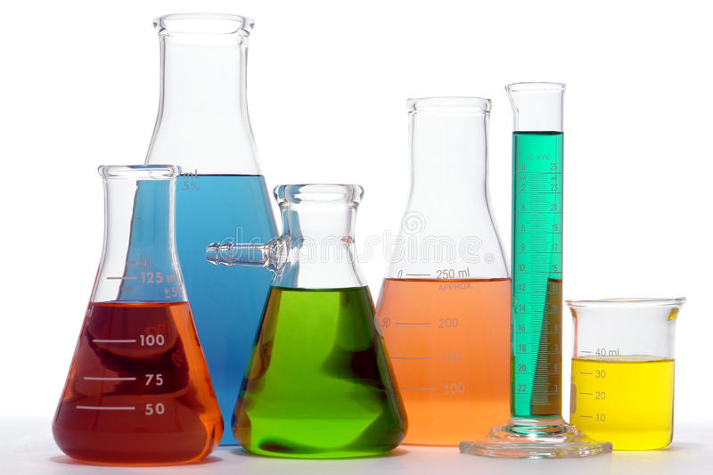 Laboratory Equipment in Science Research Lab stock image