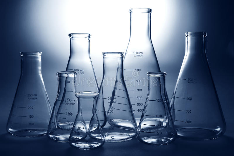 Download Laboratory Equipment In Science Research Lab Stock Photo - Image of backlit, flasks: 14927048