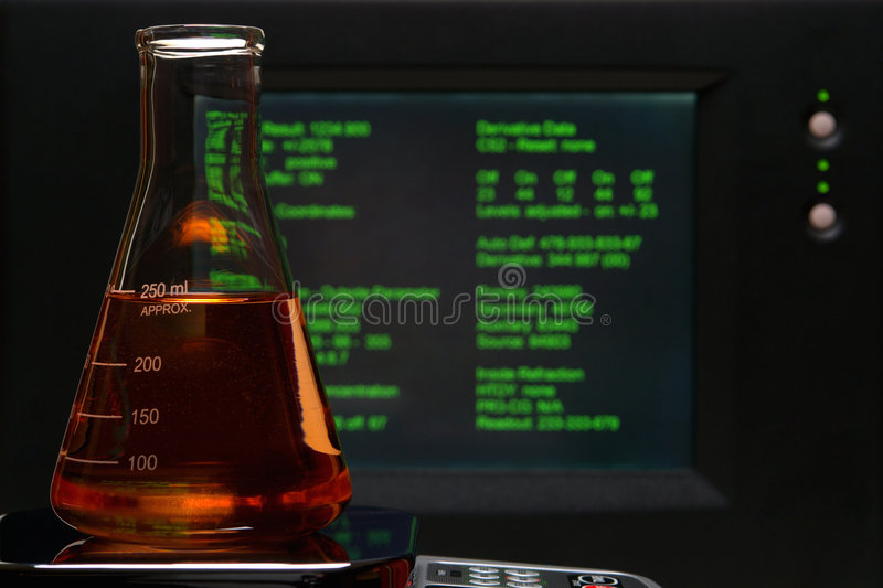 Laboratory Experiment In Science Research Lab Royalty Free Stock Photography