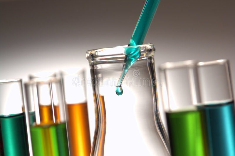 Laboratory Experiment in Science Research Lab stock photo