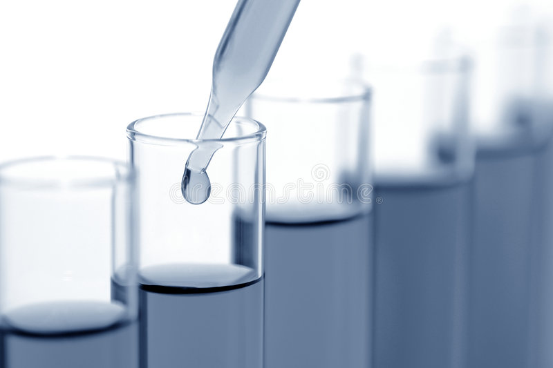 Laboratory Experiment in Science Research Lab royalty free stock images