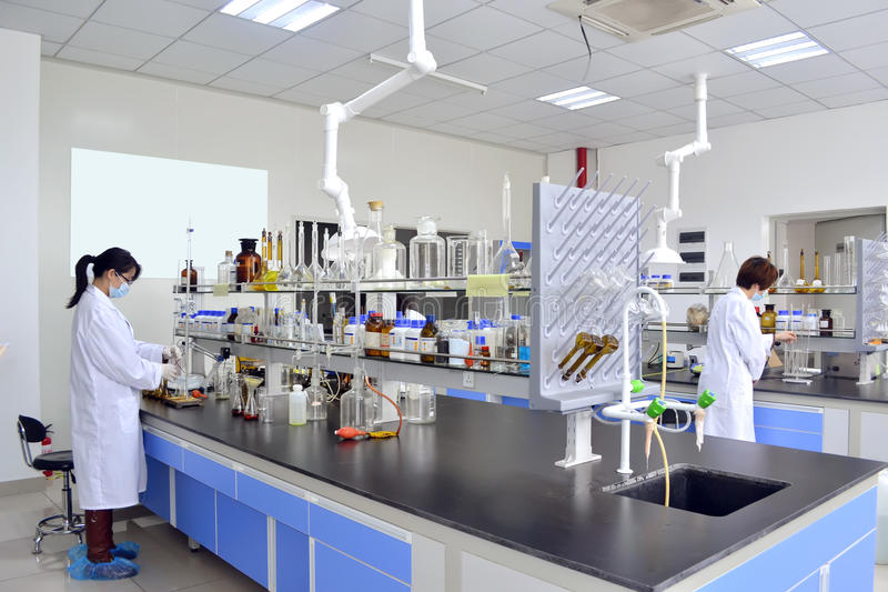 Laboratory experiment royalty free stock photos