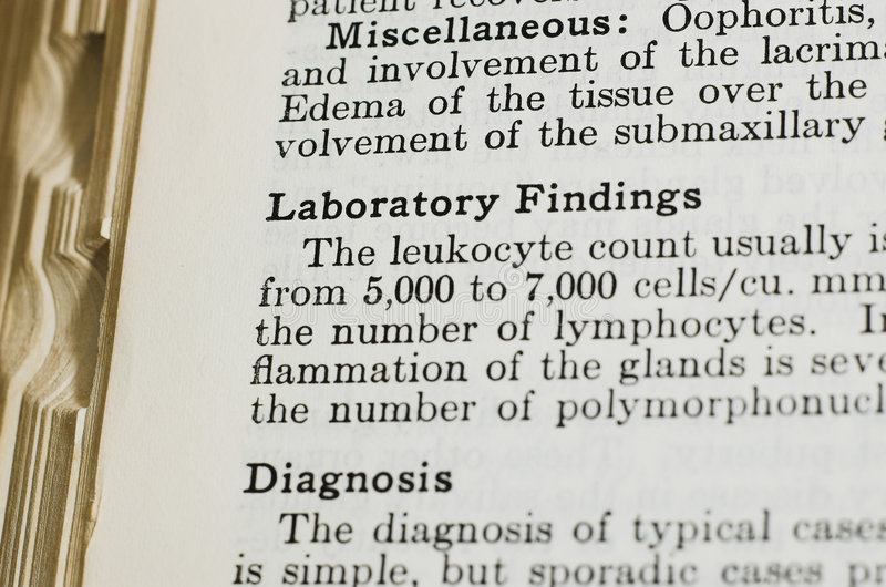 Laboratory Findings Royalty Free Stock Image