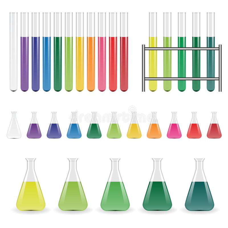 Laboratory flasks and test tubes