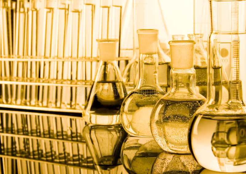 Laboratory glass. A laboratory is a place where scientific research and experiments are conducted. Laboratories designed for processing specimens, such as royalty free stock images