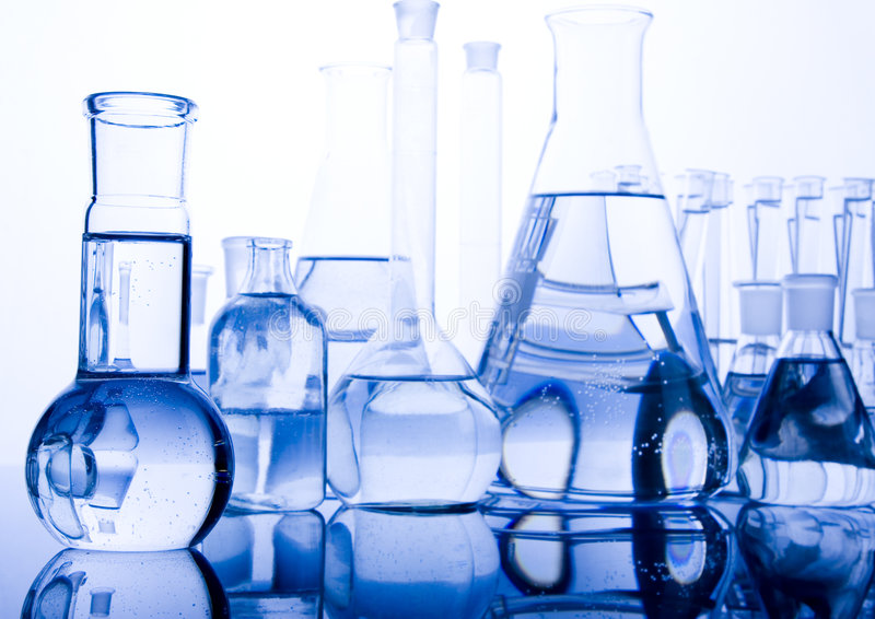 Laboratory glass. A laboratory is a place where scientific research and experiments are conducted. Laboratories designed for processing specimens, such as stock image