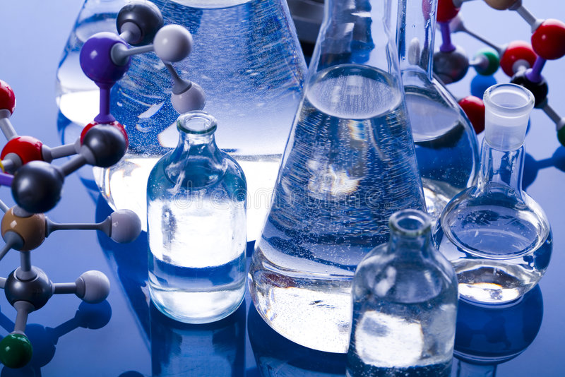 Laboratory glass. A laboratory is a place where scientific research and experiments are conducted. Laboratories designed for processing specimens, such as royalty free stock photography