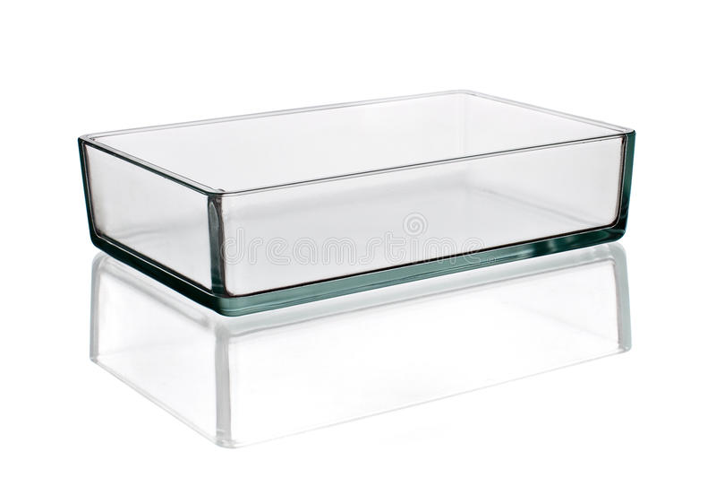 Laboratory glass beaker isolated on white royalty free stock photo
