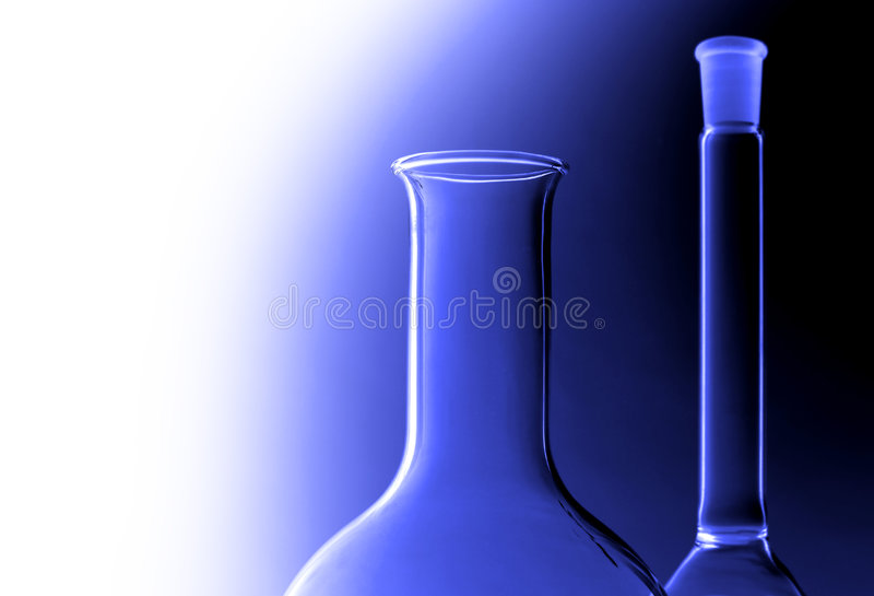 Laboratory glasses royalty free stock photography