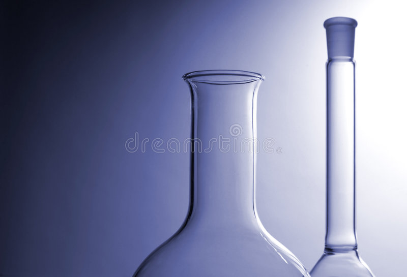 Laboratory glasses royalty free stock photos