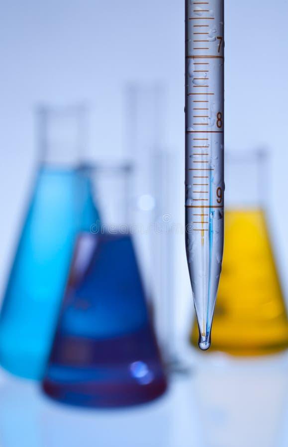 Download Laboratory glassware stock image. Image of dropper, color - 18791229