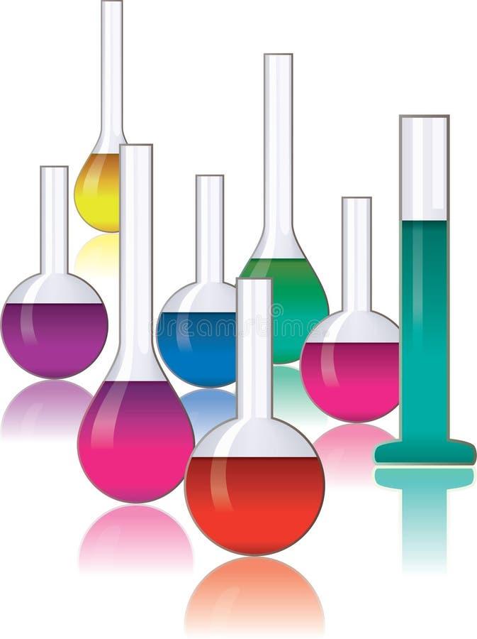 Download Laboratory glassware stock vector. Image of chemistry - 19843998