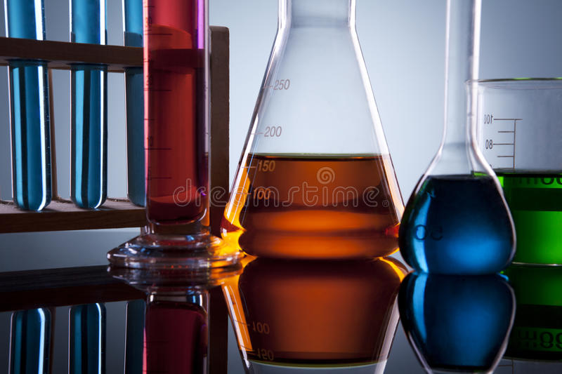 Download Laboratory glassware stock image. Image of measuring - 25197355