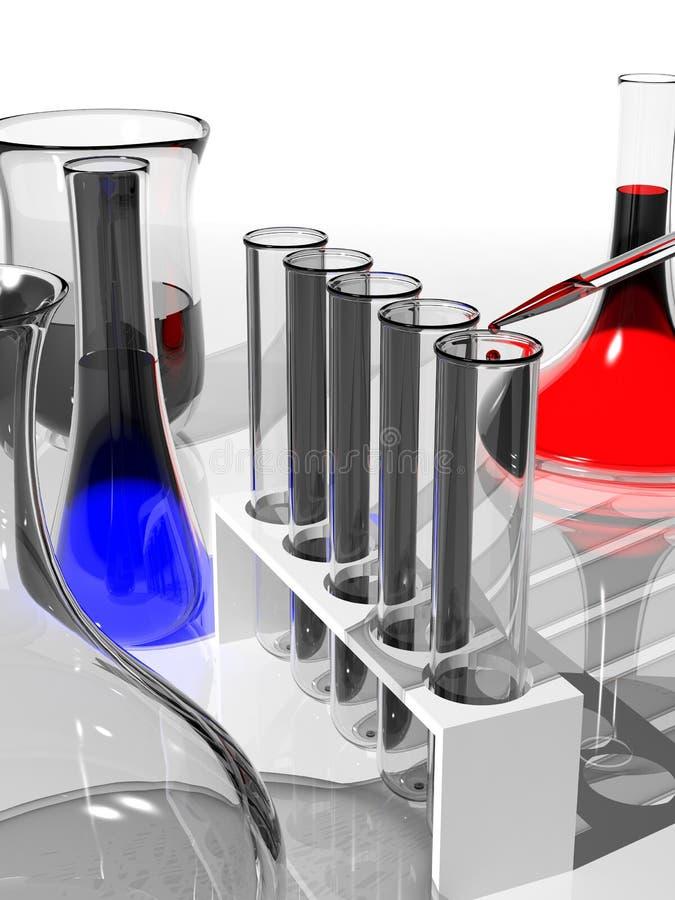 Download Laboratory glassware stock illustration. Image of liquid - 27655977