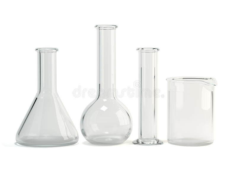 Laboratory glassware. Chemical science equipment royalty free stock images