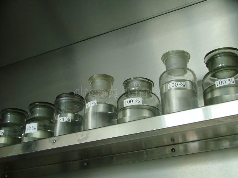 Laboratory jars stock photo