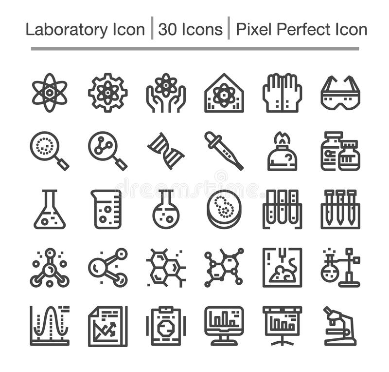 Laboratory icon. Laboratory line icon set,editable stroke vector illustration