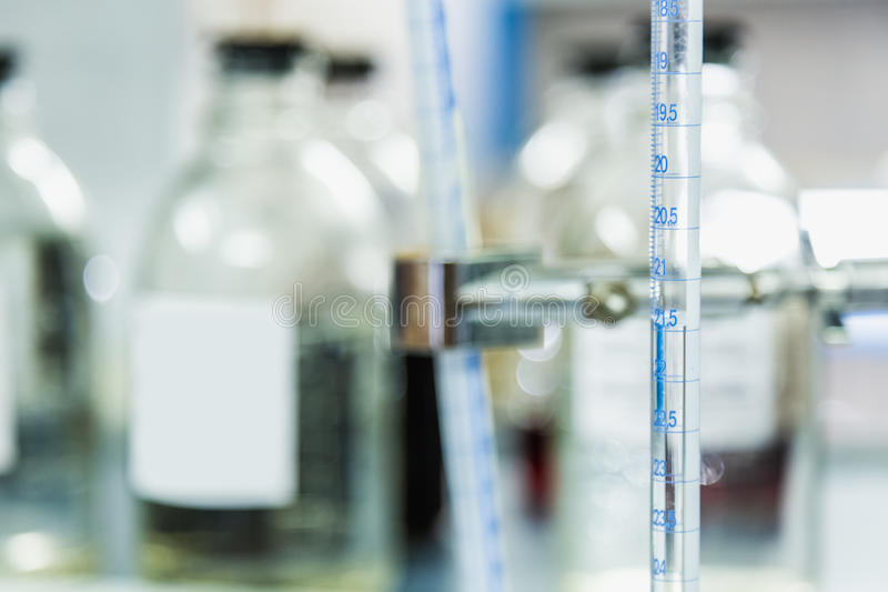 Laboratory measuring equipment royalty free stock image