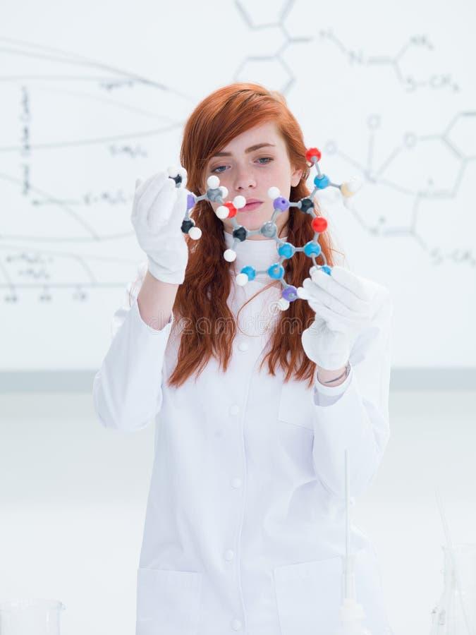 Laboratory Molecular Structure  Analysys Royalty Free Stock Photos